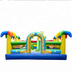 Custom Inflatable bouncer jumping castle with slide, commercial bouncer with slide