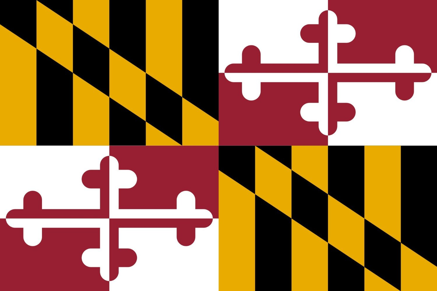 SoCal Flags® Brand Maryland Flag 3x5 Foot Polyester State of Maryland - Sold by A Proud American Company - High Quality Weather Resistant Durable - 100d Material Not See Thru Like Other Brands