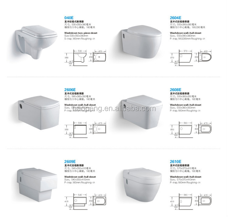 Chaozhou Wall Hung Toiletwall Toilet Dimensionswall Mounted Wc