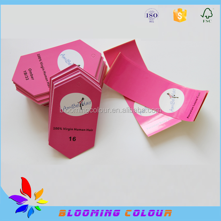 Made In China Hair Extension Packaging Tags And Labels