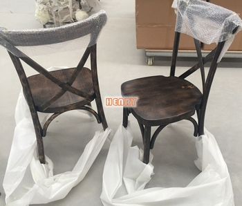 Antique Black Color X Chair Cross Back Dining Coffee