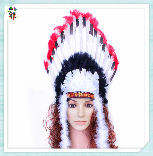 Carnival Party Native American Indian Feather Headdress HPC-2733