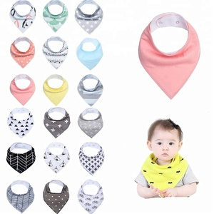 Sandro Wholesale Waterproof Triangle Organic Bandana Baby Bibs