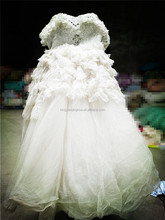 fashion women white laces wedding dresses used clothing for export