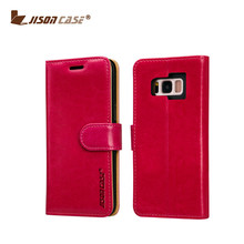 Smartphone leather case leather+TPU wallet bag back cell phone cover for S8