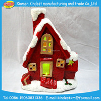 led promotional ceramic christmas village house with high quality