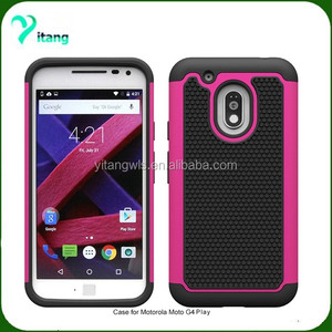 hard ballistic armor case for Motorola Moto G Play XT1609 2 in 1 combo cover design Moto 4G play case