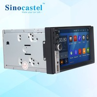 In stock 7 inch car dvd player 2 din android 5.1.1 audio for universal with gps navi 3g bluetooth