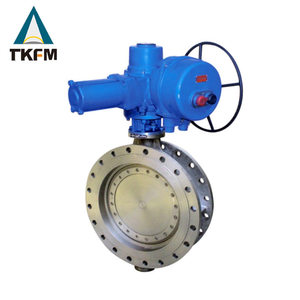 china goods two flange electric actuator stainless steel dn900 fire protection butterfly valve