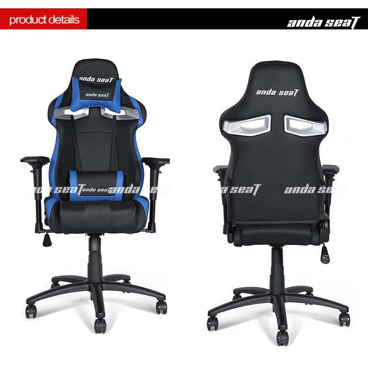 new blue car seat style gaming chair racing office chair computer gamer seat