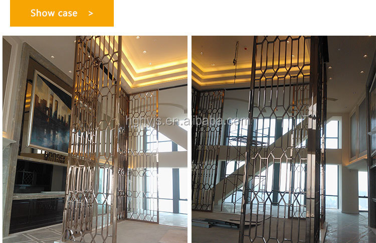 Rose Gold Raumteiler Schlafzimmer Separator Faltbare Raumteiler
