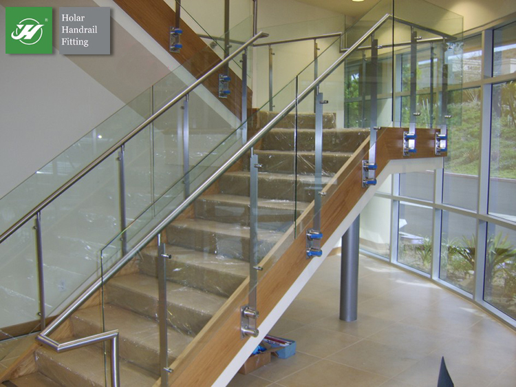 Stainless steel staircase glass railing designs buy for Kerala window glass design photos