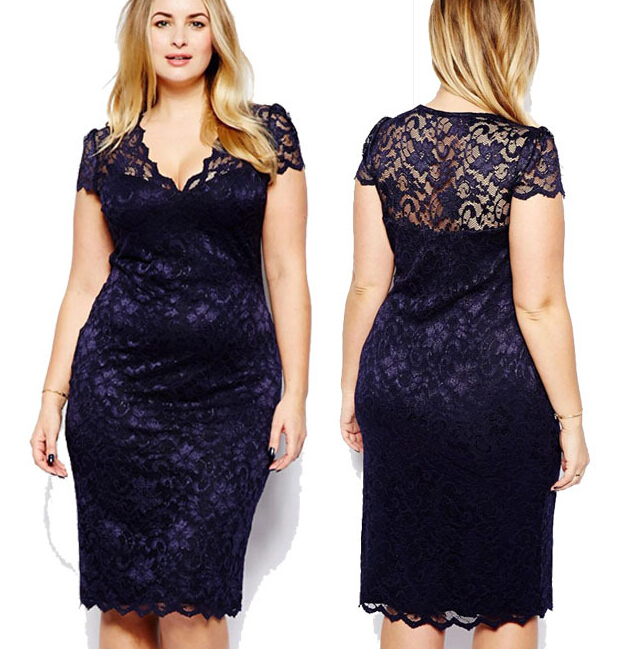 Z87653A big sizes lady clothing v-neck lace women clothes fat woman sexy <strong>dresses</strong>