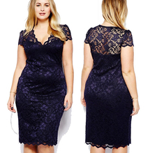 Z87653A big sizes lady clothing v-neck lace women clothes fat woman sexy dresses