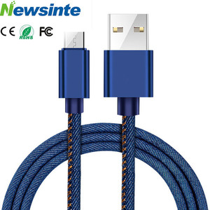 OEM Fashionable 2.1A Jean Style Fabric Usb Charging Date Cable Bulk For Iphone