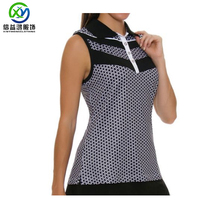 Ladies <span class=keywords><strong>golf</strong></span> top personalizza il pieno di sublimazione zip abbottonatura camicia di polo di polo all'ingrosso