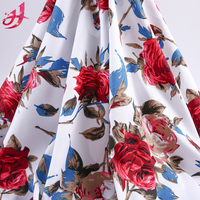 Cheap price woven design twill style material online flower print cotton textile fabric