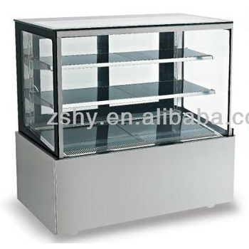 Double layers right-angle cake cabinet