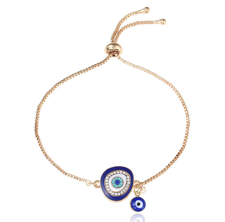 Zooying hot-selling crystal evil eye charm bracelet