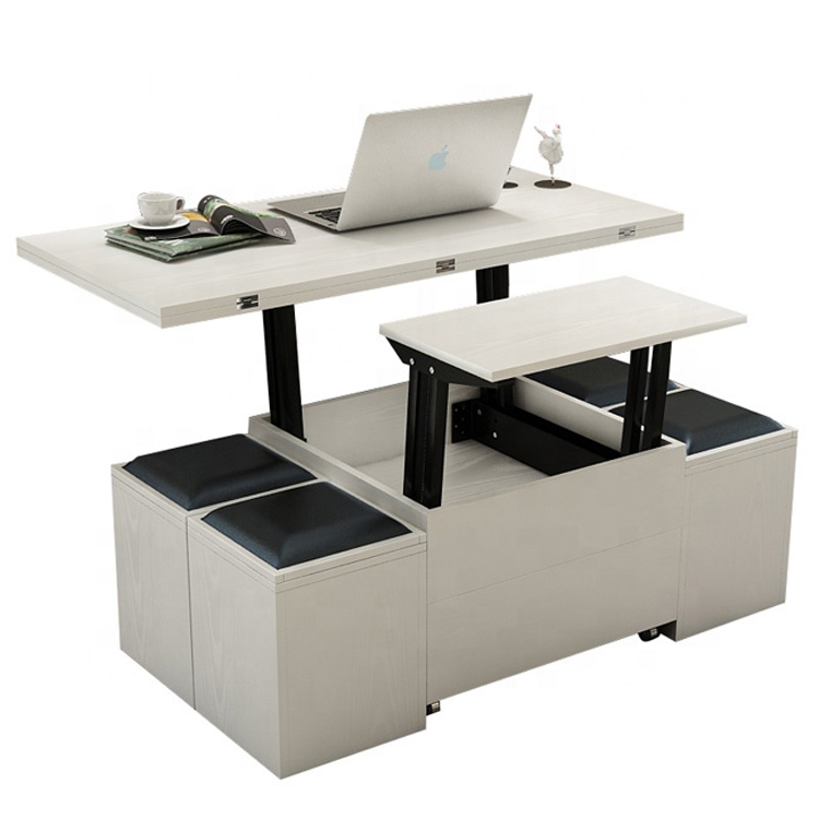 New Design Simple Multifunctional Folding Lift Top Coffee Table With Storage Wood Foldable ...