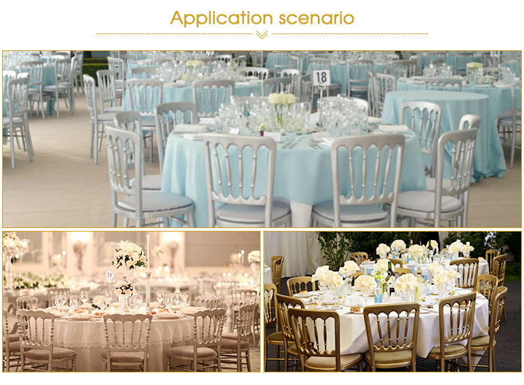 Golden Aluminum Wedding banquet Folding Chiavari Chair
