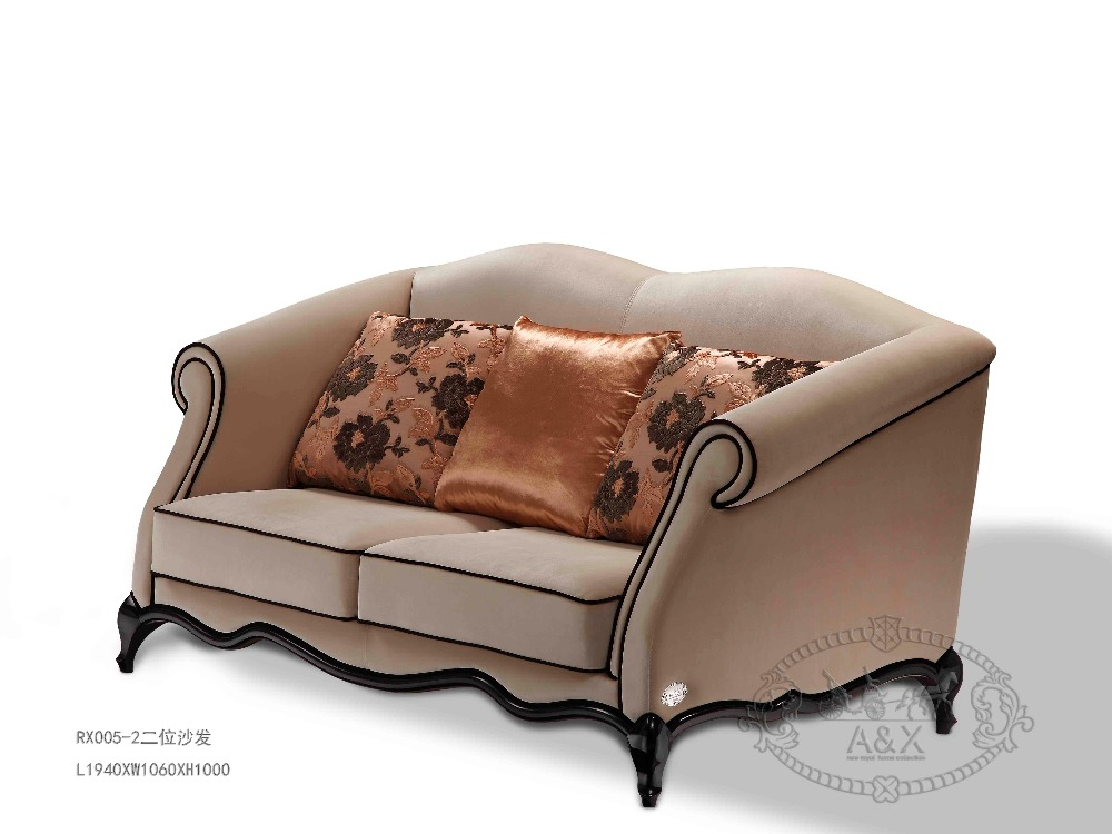 luxury italian modern design villa fabric sofa for living room
