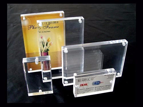 10mm solid block advertise sign holder wholesale display magnetic acrylic frame