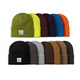 Blank Knit Beanie With Custom Label In Stocks Drop Shipping Cuff Ski Oem Winter Hat Your Design