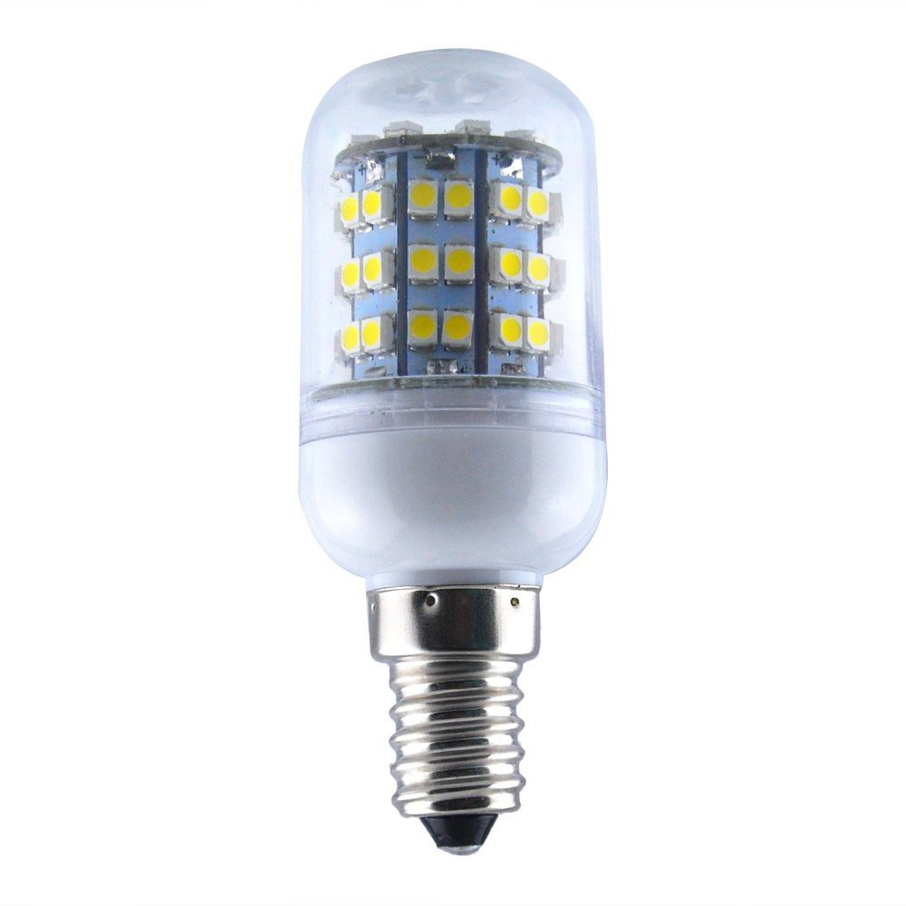 TOOGOO(R) Energy Saving E14 60 SMD 3528 LED 450LM Corn Light Lamp Bulb 3000-3500K Equivalent Halogen 50W Warm White