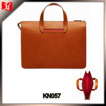 Vegetable tanned leather mens leather briefcase slim leather briefcase