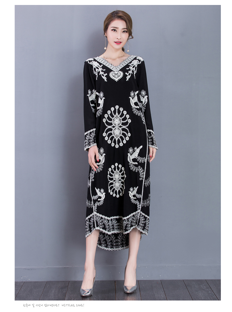 0fdd00a1bd 2019 Fashion Embroidered Dress Long Sleeve Traditional Indian ...