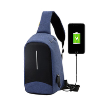 Custom New waterproof messenger sports laptop antitheft usb charge one shoulder strap backpack