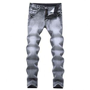 Men Latest Design Jeans Pants Crush Denim Trousers