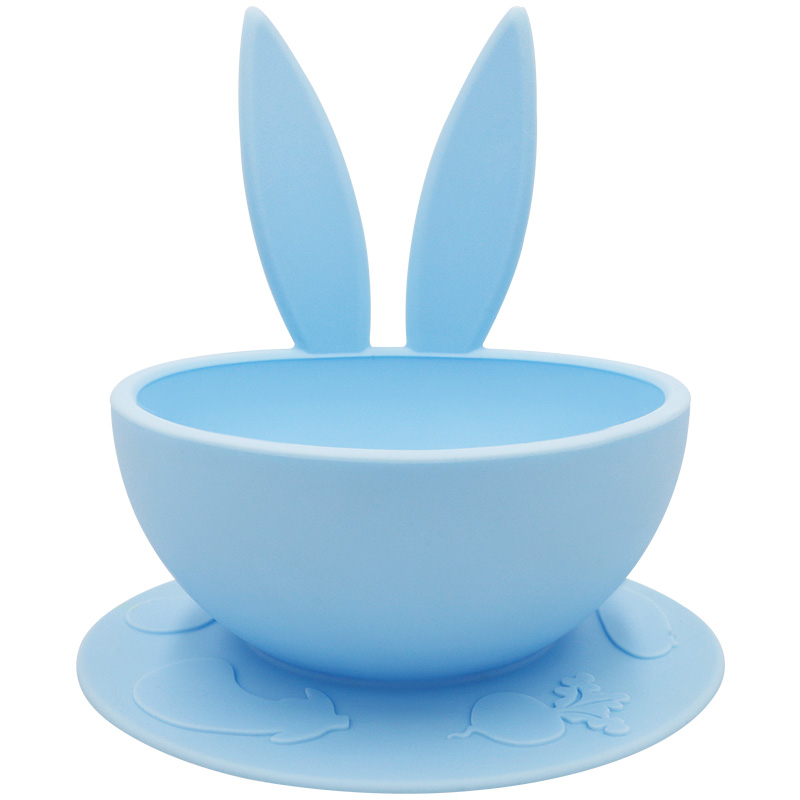 Eco-friendly Customized Food Grade Dinning Plate Silicone Baby Feeding Bowl With Suction