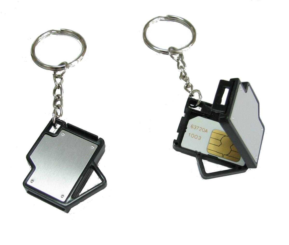 Key Chain With Sim Card Holder