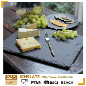 100% Natural black slate plate slate Cheese board sealed with food safe  lacquer