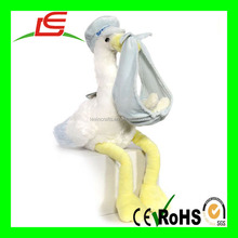 High quality hot sale stuffed animal plush stork soft toy for baby