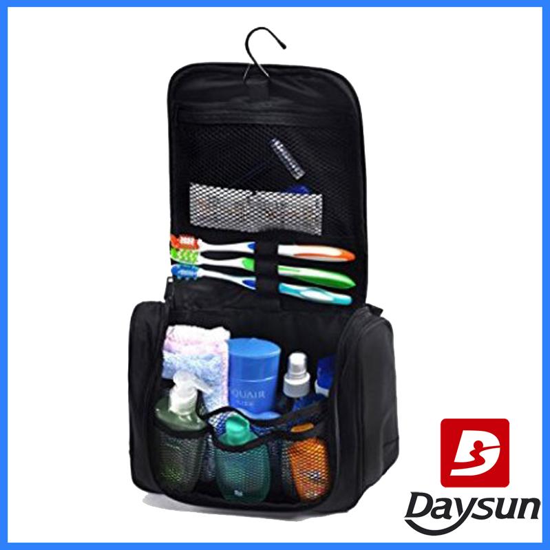 35de1fa2bd Four folding hanging toiletry bag cosmetic folded bag linen polyester. FAQ   Q  ...
