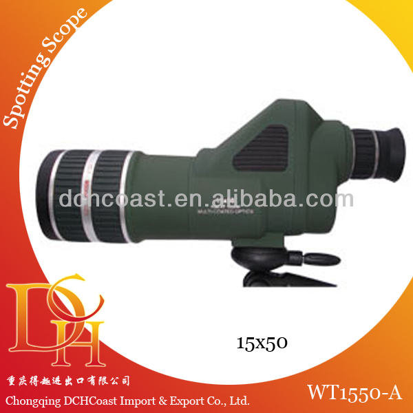 With camera angled mini spotting scope