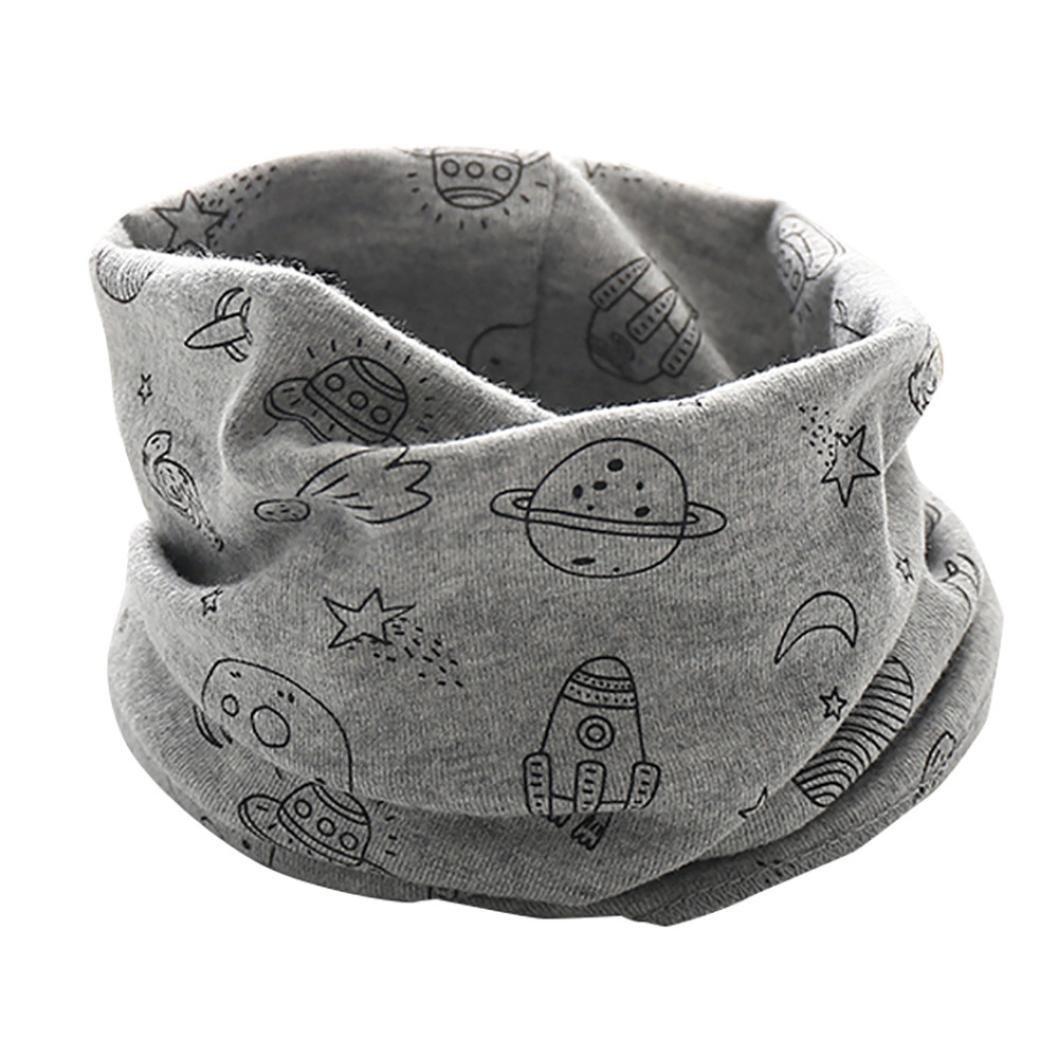Molyveva Kid Scarf Snowflake Pattern O-ring Scarf Neck Warmer Woolen Neckerchief