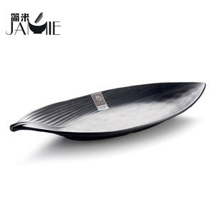 Various shapes muslim tableware plastic melamine boat shaped tapas dishes