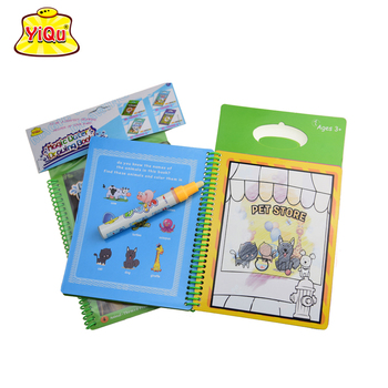 Education Toys Magic Water Drawing Book Reusable Coloring Acticity ...