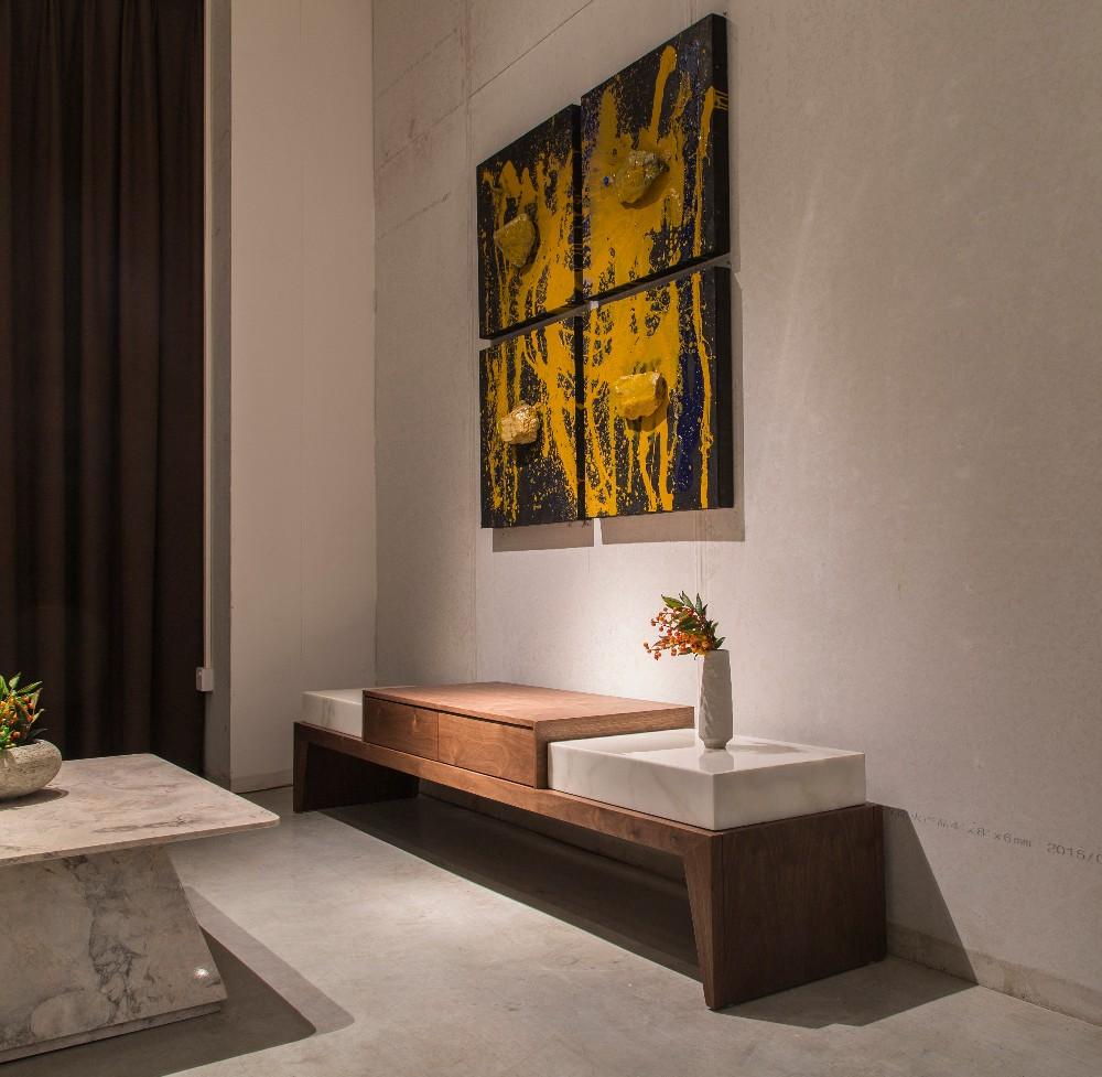 New Italia Desain Dasar Marmer Alam Meja Kopi Kayu Modern Untuk  # Muebles Lapolar