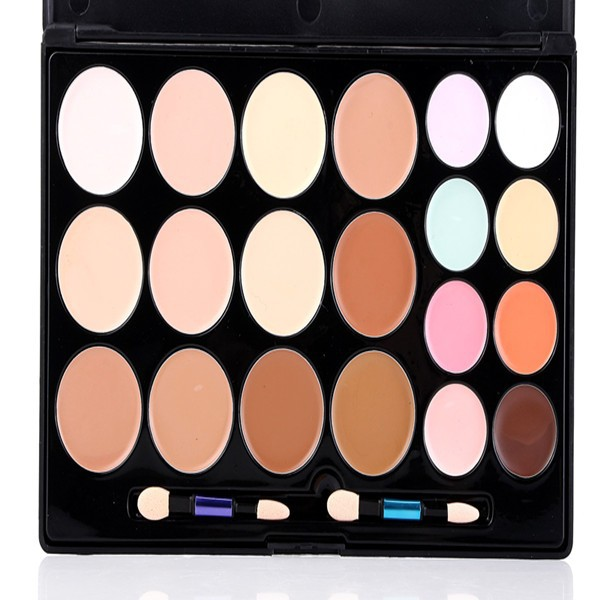 China manufacture cheap professional makeup foundation palette, 20 colors concealer, contour kit