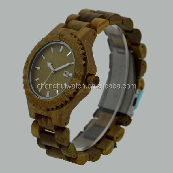 sandal wood watch fashion wooden watch for men and women high quality