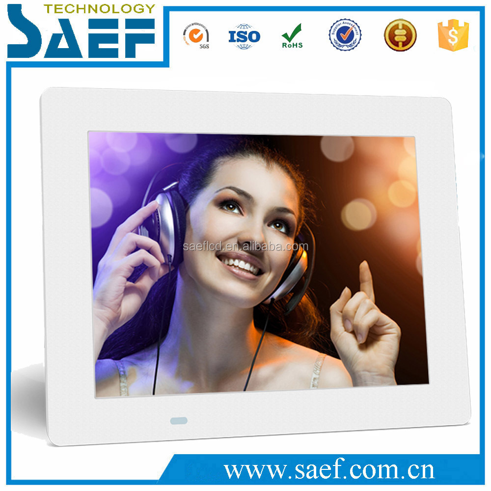 Customize 8 inch LCD remote control screen digital picture frame/photo frame