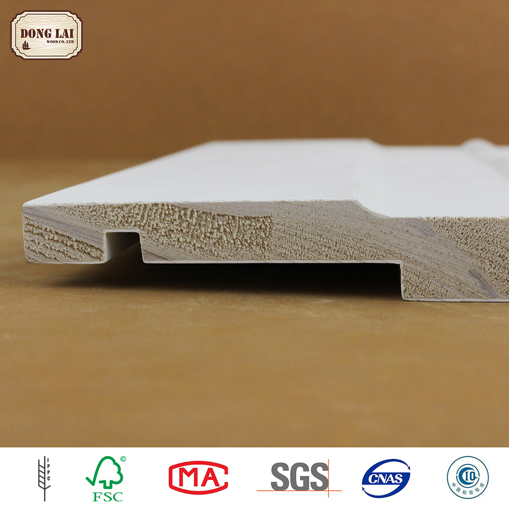 Custom Waterproof Mouldings hdf Wood Decoration Exterior Cedar Prefabricated Wall Panel