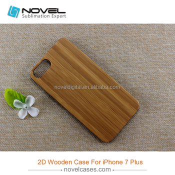 Wholesale wood phone case for iPhone7 plus,wooden back cover for iPhone7 plus