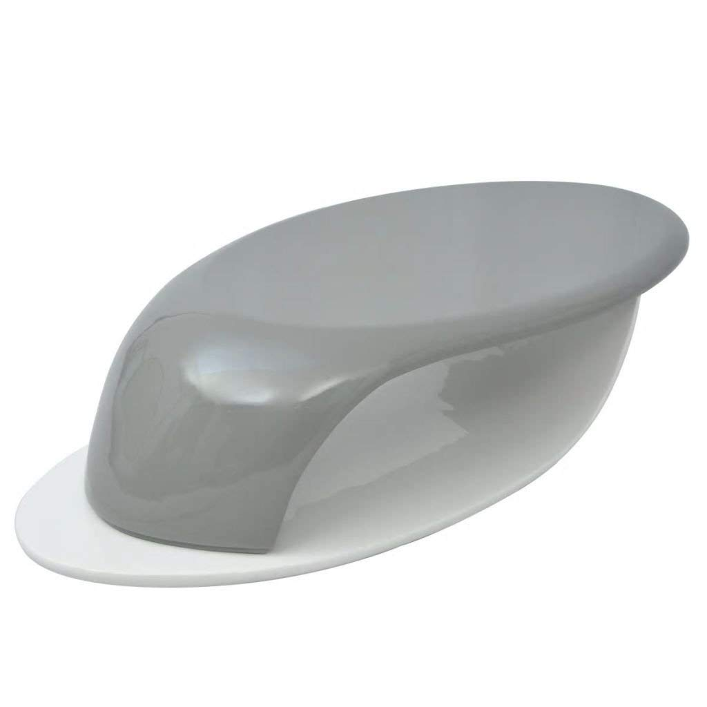 Get Quotations · Kitchen Furniture Wave Shape Design Coffee Table  Fiberglass High Gloss Gray And White End Table With