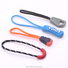 Reversible Two Sided Plastic Zipper Slider with Strong Nylon Cord for Sport Clothing Shoes and Backpacks